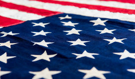 USA flag background. Close up detail image Stock Photography