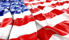 USA flag. Background - 3D render Royalty Free Stock Photo