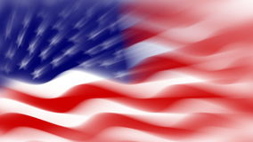 USA flag background, loop stock video footage