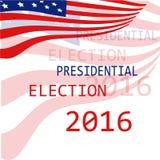 USA flag background Presidential election 2016 Royalty Free Stock Photo