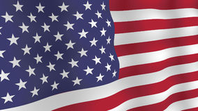 USA flag background. Realistic fluttering flag with shadows. Vector, eps 10 royalty free illustration