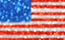 USA flag background - sparkly glittery background Stock Photo