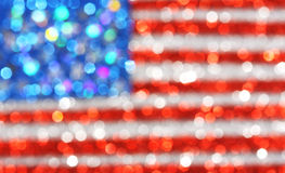 USA flag background - sparkly glittery background Stock Photos