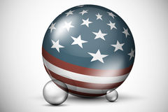 USA flag on the ball field Royalty Free Stock Images