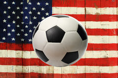 The USA flag with ball Royalty Free Stock Photos