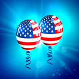 USA Flag Balloons. Stock Photos