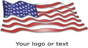 USA flag banner Royalty Free Stock Photography