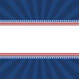 USA flag banner - Illustration. With stars Stock Illustration
