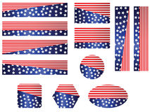 USA flag banner set. 4th July independence day and for elections flag ,banner set stock illustration