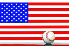 Usa flag with baseball background