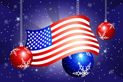 USA flag and baubles Stock Image