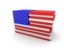 USA Flag Blocks Stock Photo