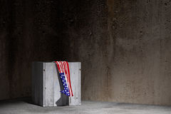 Usa flag and box Royalty Free Stock Photography