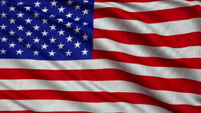 USA flag in the breeze develops slowly. Loop animation stock footage