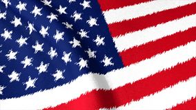 USA flag brush strokes, art, background. stock footage