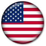 USA flag Button vector illustration