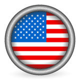 USA flag button Royalty Free Stock Images