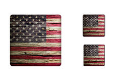 Usa flag Buttons Stock Image