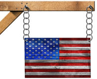 USA Flag with Chain Royalty Free Stock Photos