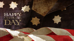 Usa flag. Chart Waves Stars and Stripes. Happy Veterans Day Royalty Free Stock Photo