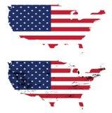 Usa flag citi black vector Royalty Free Stock Image