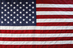 USA flag. Closeup of the American flag Stock Photos