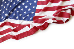 USA flag. Closeup of American flag on plain background Stock Photo