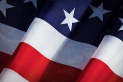 USA Flag. Closeup of flapping flag USA with wave Royalty Free Stock Photo