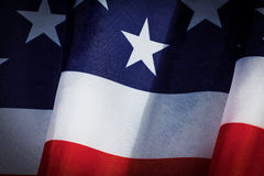 USA Flag. Closeup of flapping flag USA with wave Royalty Free Stock Photography