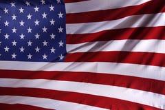 USA flag. Closeup of rippled American flag Stock Image