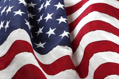 USA flag. Closeup of rippled American flag Royalty Free Stock Photography