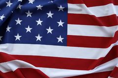 USA flag. Closeup of rippled American flag Royalty Free Stock Photos