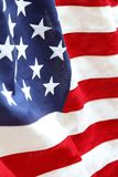 USA flag. Closeup of rippled American flag Stock Photo