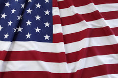 USA flag. Closeup of rippled American flag Stock Photography