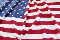 USA flag. Closeup of rippled American flag Royalty Free Stock Photos