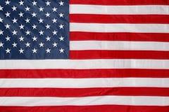 USA flag. Closeup of stars and stripes American flag Stock Photo