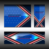 USA Flag Color Banner Backgrounds. Vector illustration Stock Photos