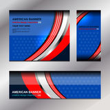 USA Flag Color Banner Backgrounds. Vector illustration Royalty Free Stock Photos