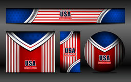 USA Flag Color Banner Backgrounds Stock Photo