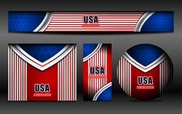 USA Flag Color Banner Backgrounds. Vector illustration Stock Photo