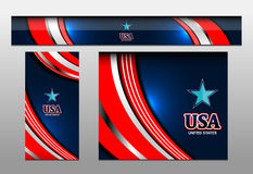 USA Flag Color Banner Backgrounds. Vector illustration Royalty Free Stock Photo