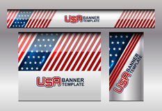 USA Flag Color Banner Backgrounds. Vector illustration Royalty Free Stock Images