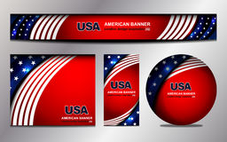 USA Flag Color Banner Backgrounds Royalty Free Stock Photos