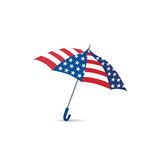USA flag colored umbrella. Season american fashion accessory. Tr Stock Images
