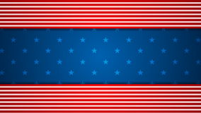 USA flag colors video animation stock footage