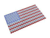 USA flag composed of different color brilliants. Flag of the USA composed of different color brilliants. High resolution 3D image Royalty Free Stock Images