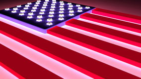USA flag concept. USA flag design concept. Neon light illumination. Animation relative to travel and politic themes stock video