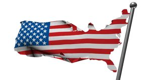 Usa flag with country map Royalty Free Stock Photos
