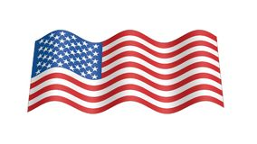 Usa flag with country map stock footage