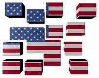 USA Flag on cubes Royalty Free Stock Photo